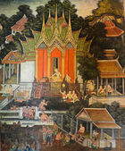 Native Thai mural — Stockfoto