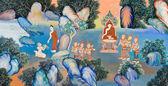 Thai mural painting — Stock Photo