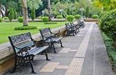 Bench in the park — Stock Photo