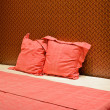 Foto de Stock  : Colorful bed