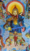 Dio cinese dipinto — Foto Stock
