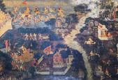 Thailändska väggmålning — Stockfoto