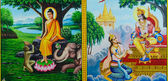 Pintura mural tailandês — Fotografia Stock