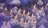 Thaise muurschildering — Stockfoto