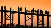 U Bein bridge, Myanmar — Stock Photo
