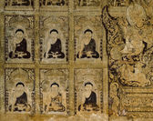 Ancient Burmese mural — Stock Photo