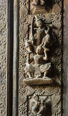 Ancient Burmese wood carving — Stock Photo