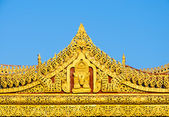Burmese temple roof , Myanmar — Stock Photo