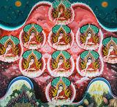 Mural budista tailandés — Foto de Stock