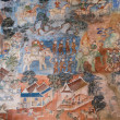 Ancient Thai mural painting — Stock Photo