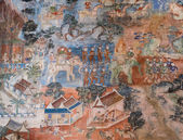 Ancient Thai mural painting — Stockfoto
