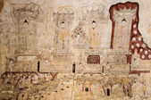 Ancient Burmese mural — ストック写真