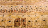 Ancient Burmese mural — Stock fotografie