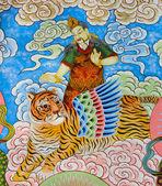 中国壁画 — 图库照片