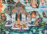 Thai Buddhist mural — Foto de Stock