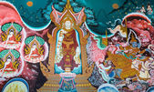 Thai Buddhist mural — Stock Photo