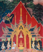 Thai mural painting — Stock Photo