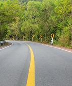 Carretera campo curva — Foto de Stock