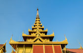 Burmese wooden roof style — Stockfoto