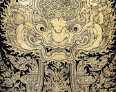 Thai gold leaf art — Stock Photo