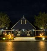 Dutch style house illuminated at night — Stock Photo