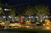 Night view of city garden — Stock Photo