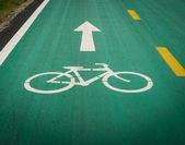 Fahrrad-lane-zeichen — Stockfoto