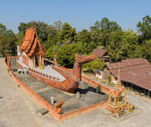 Thai temple in barge shape — Stock Photo