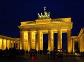 Berlin Brandenburger Tor Nacht - Berlin Brandenburg Gate night 10 — Stock Photo