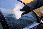 Eis kratzen - ice scraping 07 — Stock Photo