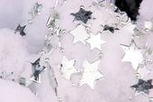 Sternkette im Baum - necklet from stars in tree 04 — Stock Photo