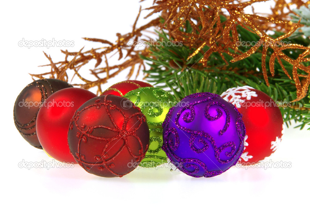 Weihnachtskugel freigestellt - christmas ball isolated 13 — Foto Stock #13184135