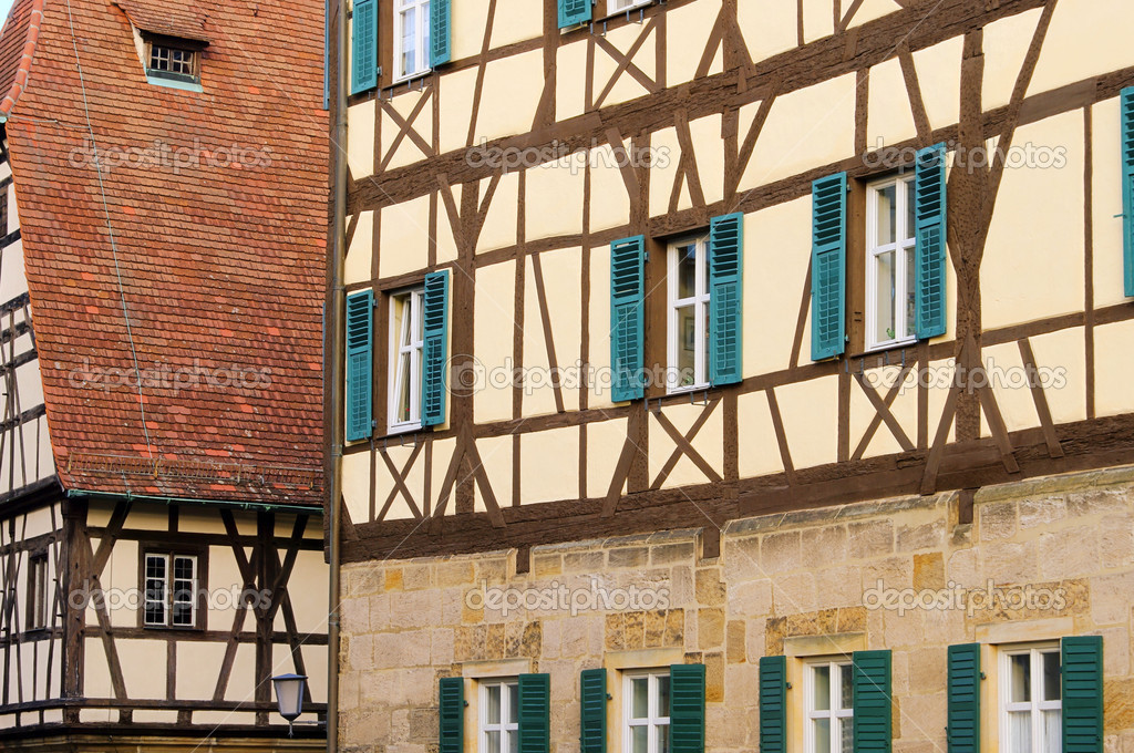 Bamberg Fachwerkhaus - Bamberg half-timber house 03 — Foto Stock #13226808