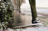 Wassergraben im winter - vodní příkop v zimě 04 — Stock fotografie