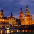 Dresden Hofkirche Nacht - Dresden Catholic Court Church night 07 — Stock Photo #13550664