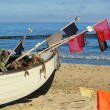 Fischkutter am Strand - fishing cutter on the beach 09 — Stock Photo