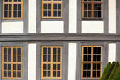 Fenster Fachwerk - window timber framing 02 — Stock Photo