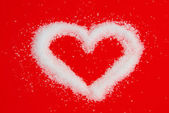 Herz aus Zucker - heart from sugar 08 — Stock Photo