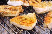 Grillen Fischsteak - grilling steak from fish 14 — Stock Photo