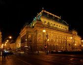 Prag Nationaltheater Nacht - Prague national theatre night 02 — Stock Photo
