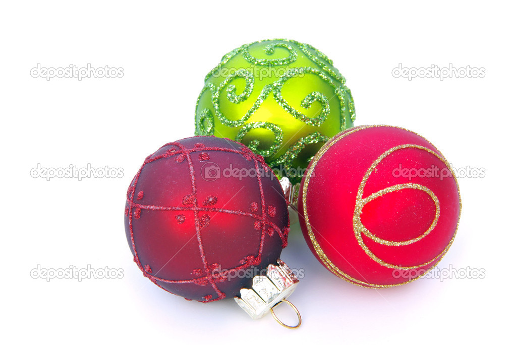 Weihnachtskugel freigestellt - christmas ball isolated 10 — Stock Photo #13656919
