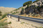 Stara Baska Kuestenstrase - Stara Baska coast road 38 — Stock Photo
