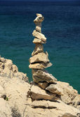 Kieselturm - tower from pebbles 19 — Stock Photo