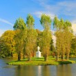 Woerlitzer Park Rousseau Insel - English Grounds of Woerlitz Rousseau island 01 — Stock Photo
