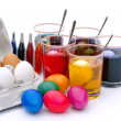 Stock Photo: Ostereier ferben - easter eggs colour 09