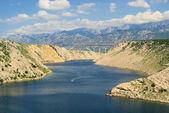Novigrader meer autobahnbrecke - novigrad havet bron från motorvägen 09 — Stockfoto