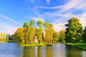 English Grounds of Woerlitz Rousseau island 03 — Stock Photo