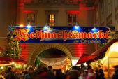 Berlin weihnachtsmarkt är opernpalais - berlin jul marknaden opernpalais 02 — Stockfoto