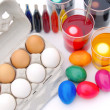 Stock Photo: Ostereier ferben - easter eggs colour