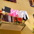 Wesche Balkon - laundry balcony 03 - Stock Photo